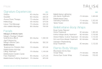 Signature Experiences Facials Bellefontaine Body Wraps