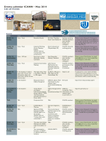 Events Calendar - May 2014
