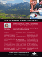 OXFORD INTERNATIONAL COLLEGE SWITZERLAND