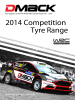 2014 Competition Tyre Range
