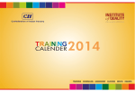 Training Calender - CII Institute of Quality