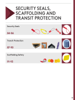 SECURITY SEALS, SCAFFOLDING AND TRANSIT PROTECTION