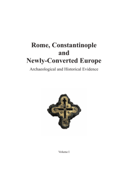 Rome, Constantinople and Newly