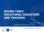 ROUND TABLE VOCATIONAL EDUCATION AND TRAINING