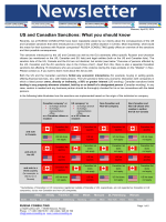 US and Canadian Sanctions - Canada Eurasia Russia Business
