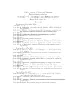 Geometry, Topology and Integrability