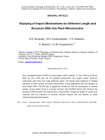 Studying of Import Mechanisms for Different Length and Structure