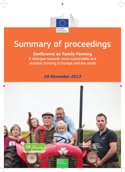 Conference on Family Farming - European Commission