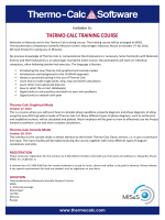 THERMO-CALC TRAINING COURSE - Thermo