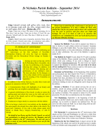 September 2014 Bulletin - St. Nicholas Russian Orthodox Church
