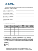 corporate client identification form / анкета клиента