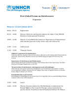First Global Forum on Statelessness