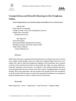 Competition and Benefit Sharing in the Ferghana