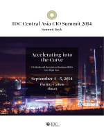 IDC Central Asia CIO Summit 2014 Accelerating into the Curve