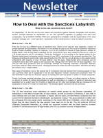How to Deal with the Sanctions Labyrinth