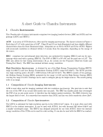 A short Guide to Chandra Instruments