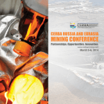 Mining ConfEREnCE - Canada Eurasia Russia Business Association