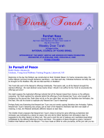 Parshat Naso Weekly Dvar Torah In Pursuit of Peace