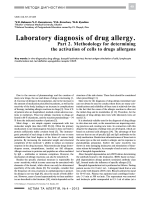 Laboratory diagnosis of drug allergy. Part 2. Methods used for