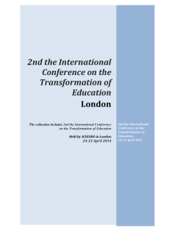 2nd the International Conference on the Transformation of