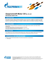 Gazpromneft Motor Oil40, 50, 60 - gazpromneft – lubricants, ltd