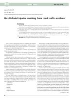 Maxillofacial injuries resulting from road traffic accidents