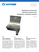 Waschbecken mit Knieventil Wash basin with knee valve