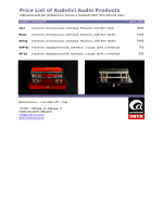 Price List of Audolici Audio Products