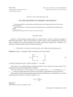 ON SOME PROPERTIES OF KOROBOV POLYNOMIALS Korobov in