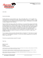 Fall 2014 Conference Letter