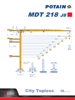 спецификацию Potain MDT 218 J8 City