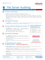 Quick Reference Guide-File Server Auditing