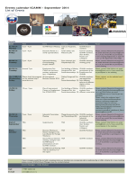 Events calendar ICANN - September 2014 List of Events