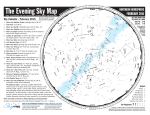 The Evening Sky Map