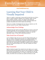 Learning that Your Child Is Visually Impaired