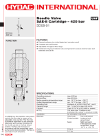Needle Valve SAE-8 Cartridge – 420 bar SD08-01