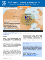 IOM Philippines - Response to displacement due to conflict and natural