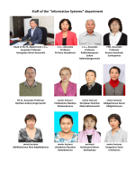 "Staff of the ""Information Systems"" department"