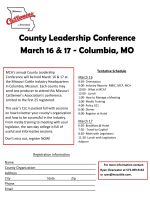 County Leadership Conference March 16 & 17