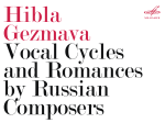 Hibla Gezmava Vocal Cycles and Romances by Russian Composers