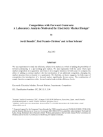 Competition with Forward Contracts: A Laboratory Analysis Motivated