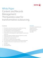 White Paper Content and Records Management: The business case
