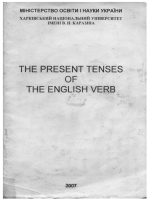 Тне present tenses of the english verb