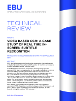 Video based OCR: a case study of real time in