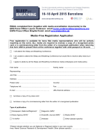 Media–Free Registration Application