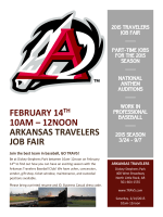 February 14 th 10AM – 12NOON arkansas travelers job fair