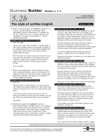 The style of written English
