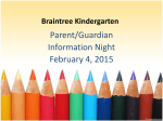Kindergarten Information Night Presentation - 1