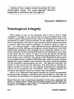 Theological Integrity