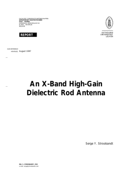 An X-Band High-Gain Dielectric Rod Antenna
